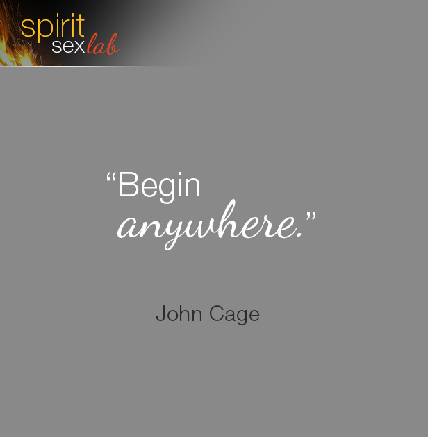 """Quote: """"Begin Anywhere"""""""