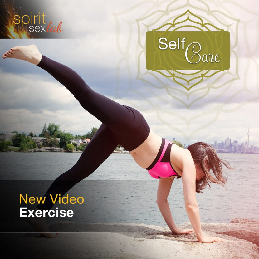 Self-care: Exercise - Woman doing yoga