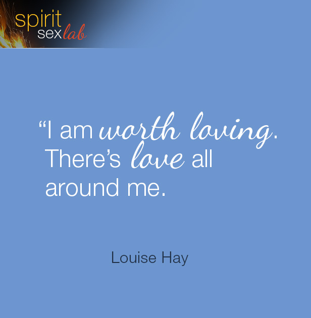 I'm worth loving quote by Louise Hay