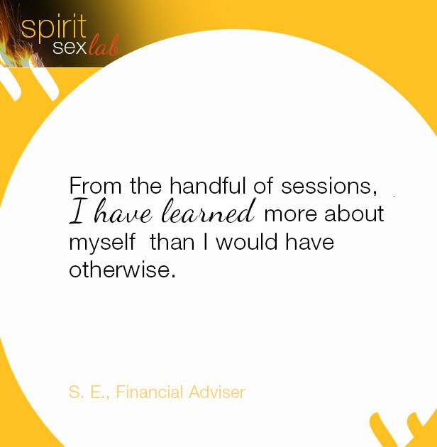positive testimonial on Spirit Sex Lab healing work