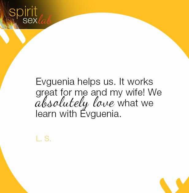 Evguenia helps us
