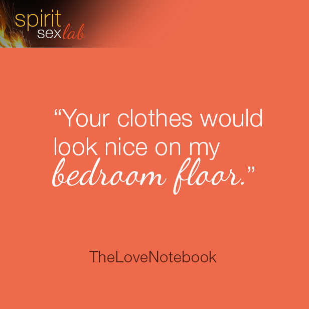 your clothes would look nice on my bedroom floor