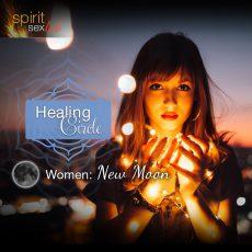 healing circle women: new moon