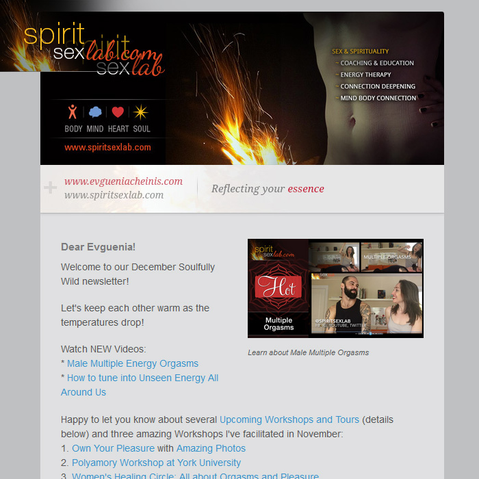Spirit Sex Lab December Newsletter