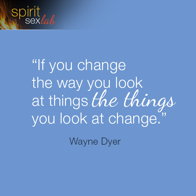change the way to look at things