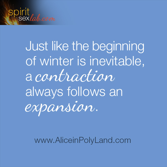 Contraction follows expansion
