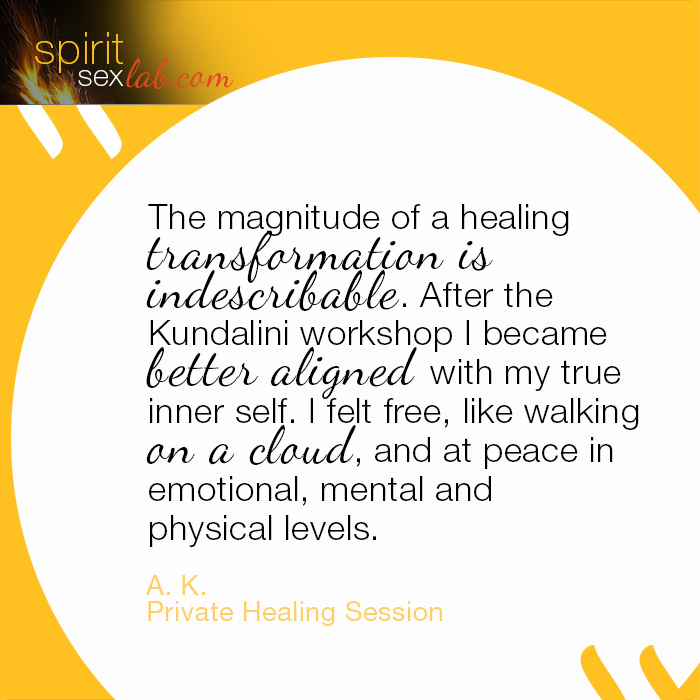 Energy healing Testimonials