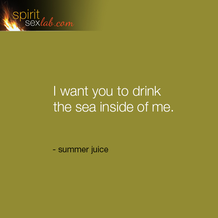 drink the sea inside