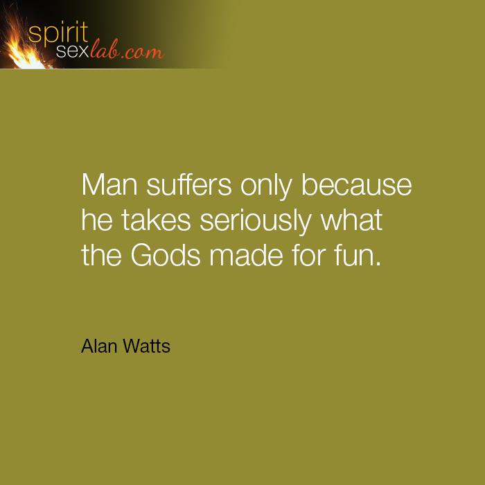 man suffers